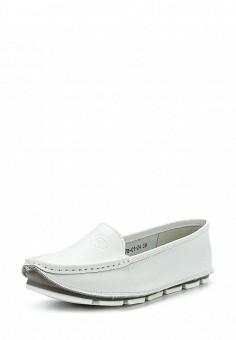 Мокасины, Der Spur, цвет: белый. Артикул: DE034AWQOP29. Женская обувь / Мокасины и топсайдеры