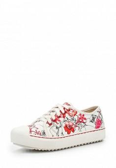 Кеды, Dino Ricci Trend, цвет: белый. Артикул: DI029AWQYY07. Женская обувь / Кроссовки и кеды