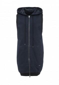 Толстовка, Diesel, цвет: синий. Артикул: DI303EWRXR86. Женская одежда / Верхняя одежда / Жилеты