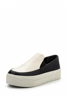 Слипоны, DKNY, цвет: черно-белый. Артикул: DK001AWPVI05. Премиум / Обувь