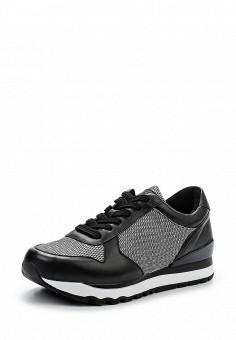 Кроссовки, DKNY, цвет: черно-белый. Артикул: DK001AWPVI09. Женская обувь / Кроссовки и кеды