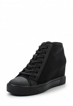 Кеды на танкетке, DKNY, цвет: черный. Артикул: DK001AWROY52. Премиум / Обувь
