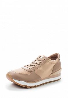 Кроссовки, DKNY, цвет: бежевый. Артикул: DK001AWVBF50. Женская обувь / Кроссовки и кеды