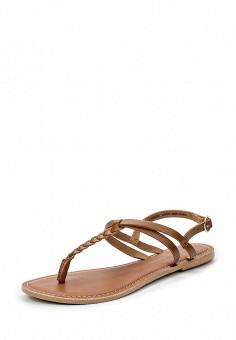 Сандалии, Dorothy Perkins, цвет: коричневый. Артикул: DO005AWSQI39. Женская обувь / Сандалии