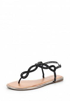 Сандалии, Dorothy Perkins, цвет: черный. Артикул: DO005AWSVF44. Женская обувь / Сандалии