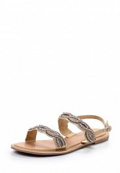 Сандалии, Dorothy Perkins, цвет: бежевый. Артикул: DO005AWUZR36. Женская обувь / Сандалии