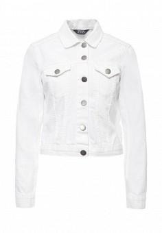 Куртка джинсовая, Dorothy Perkins, цвет: белый. Артикул: DO005EWSVF84. Женская одежда / Верхняя одежда / Джинсовые куртки