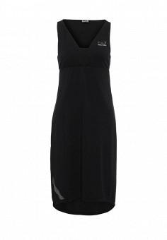 Платье, EA7, цвет: черный. Артикул: EA002EWRBC43. Премиум / Одежда / Платья и сарафаны