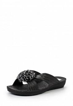 Шлепанцы, Ella, цвет: черный. Артикул: EL023AWHNH62. Женская обувь / Шлепанцы и акваобувь