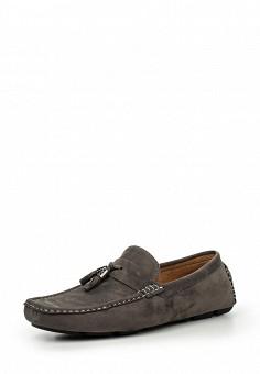 Мокасины, Elong, цвет: серый. Артикул: EL025AMIOW69. Мужская обувь / Мокасины и топсайдеры
