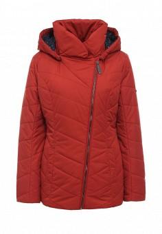 Куртка утепленная, FiNN FLARE, цвет: красный. Артикул: FI001EWKHG19. Женская одежда / Верхняя одежда