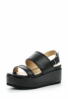 Босоножки, Fornarina, цвет: черный. Артикул: FO019AWRSG76. Женская обувь / Босоножки