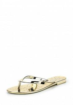 Сланцы, GLAMforever, цвет: золотой. Артикул: GL854AWRLU54. Женская обувь / Шлепанцы и акваобувь