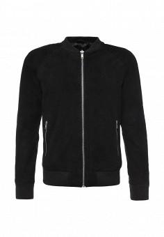 Куртка кожаная, Jack & Jones, цвет: черный. Артикул: JA391EMPQI30. Мужская одежда / Верхняя одежда / Кожаные куртки