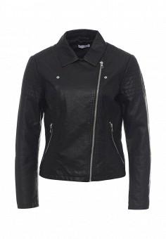 Куртка кожаная, Jacqueline de Yong, цвет: черный. Артикул: JA908EWQGE93. Женская одежда / Верхняя одежда / Кожаные куртки