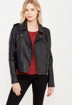Куртка кожаная, Jacqueline de Yong, цвет: черный. Артикул: JA908EWUJB56. Женская одежда / Верхняя одежда / Косухи