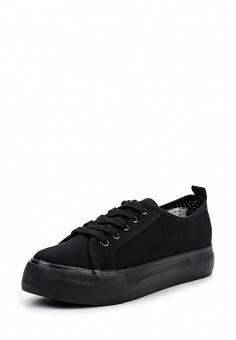 Кеды, Jennyfer, цвет: черный. Артикул: JE008AWQLG40. Женская обувь / Кроссовки и кеды