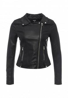 Куртка кожаная, Jennyfer, цвет: черный. Артикул: JE008EWRHI21. Женская одежда / Верхняя одежда / Косухи