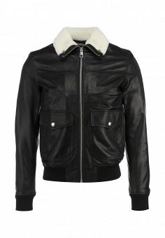 Куртка кожаная, Just Cavalli, цвет: золотой. Артикул: JU662EMFKG12. Мужская одежда / Верхняя одежда / Кожаные куртки