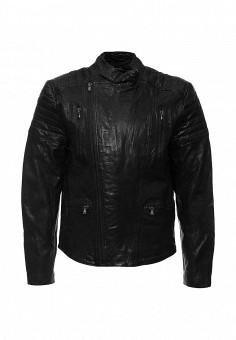 Куртка кожаная, Kenneth Cole, цвет: черный. Артикул: KE008EMJRW32. Мужская одежда / Верхняя одежда / Кожаные куртки