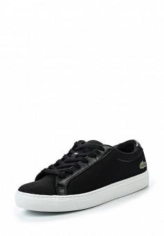 Кеды, Lacoste, цвет: черный. Артикул: LA038AWPZO09. Женская обувь / Кроссовки и кеды