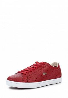 Кеды, Lacoste, цвет: красный. Артикул: LA038AWPZO25. Женская обувь / Кроссовки и кеды