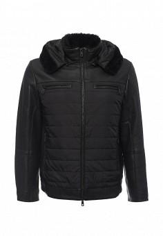 Куртка кожаная, Lagerfeld, цвет: черный. Артикул: LA053EMKSA31. Мужская одежда / Верхняя одежда / Кожаные куртки