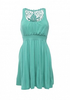 Платье пляжное, Lascana, цвет: зеленый. Артикул: LA061EWRSP38. Женская одежда / Платья и сарафаны / Летние платья