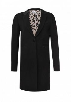 Пальто, Liu Jo Jeans, цвет: черный. Артикул: LI003EWJKS54. Премиум / Одежда / Верхняя одежда / Пальто