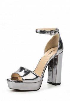 Босоножки, Liu Jo, цвет: серебряный. Артикул: LI687AWOQB92. Премиум / Обувь / Босоножки