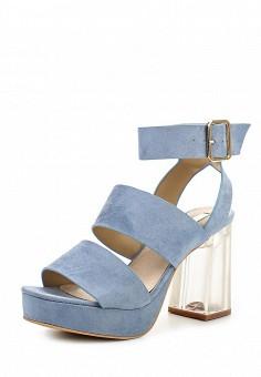 Босоножки, LOST INK, цвет: голубой. Артикул: LO019AWPXX29. Женская обувь / Босоножки