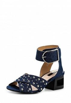 Босоножки, LOST INK, цвет: синий. Артикул: LO019AWQLF23. Женская обувь / Босоножки