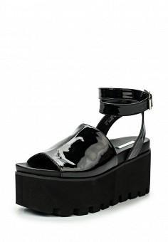 Босоножки, LOST INK, цвет: черный. Артикул: LO019AWTII65. Женская обувь / Босоножки