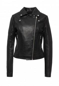 Куртка кожаная, LOST INK, цвет: черный. Артикул: LO019EWJOT93. Женская одежда