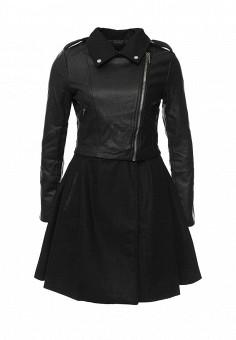 Пальто, LOST INK, цвет: черный. Артикул: LO019EWJOU09. Женская одежда