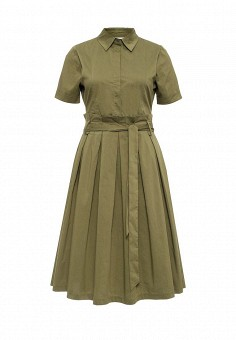 Платье, LOST INK, цвет: хаки. Артикул: LO019EWJOV68. Женская одежда / Платья и сарафаны / Летние платья