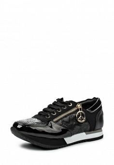 Кроссовки, Love Moschino, цвет: черный. Артикул: LO416AWJEC93. Женщинам / Обувь / Кроссовки и кеды