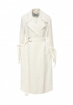Плащ, Max&Co, цвет: белый. Артикул: MA111EWOLS81. Премиум / Одежда / Верхняя одежда / Плащи и тренчкоты
