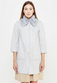 Дубленка, Max&Co, цвет: голубой, серый. Артикул: MA111EWUCB67. Женская одежда / Верхняя одежда / Шубы и дубленки