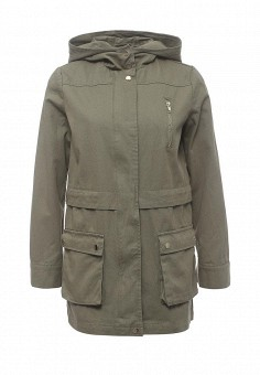Парка, Miss Selfridge, цвет: хаки. Артикул: MI035EWRKB66. Женская одежда / Верхняя одежда / Парки