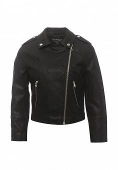 Куртка кожаная, Miss Selfridge, цвет: черный. Артикул: MI035EWRKB71. Женская одежда / Верхняя одежда / Косухи