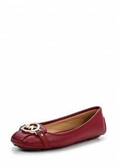 Балетки, Michael Michael Kors, цвет: бордовый. Артикул: MI048AWNZQ32. Премиум / Обувь / Балетки