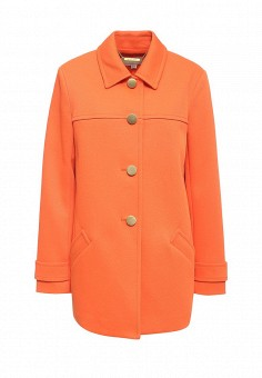 Полупальто, Michael Michael Kors, цвет: оранжевый. Артикул: MI048EWNZQ68. Премиум / Одежда / Верхняя одежда / Пальто