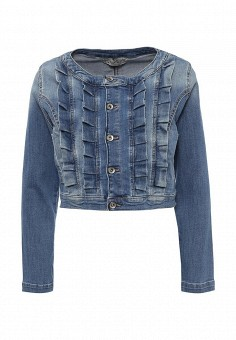 Куртка джинсовая, Miss Miss by Valentina, цвет: синий. Артикул: MI059EWRAQ82. Женская одежда / Верхняя одежда / Джинсовые куртки