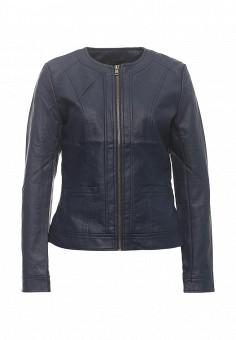 Куртка кожаная, Modis, цвет: синий. Артикул: MO044EWRFV62. Женская одежда / Верхняя одежда / Кожаные куртки