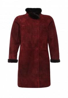 Дубленка, Grafinia, цвет: бордовый. Артикул: MP002XW0DVCT. Женская одежда / Верхняя одежда / Шубы и дубленки