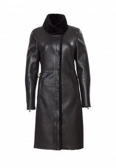 Дубленка, Grafinia, цвет: черный. Артикул: MP002XW1305R. Женская одежда / Верхняя одежда / Шубы и дубленки