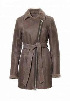 Дубленка Grafinia, цвет: коричневый. Артикул: MP002XW1GIAD. Женская одежда