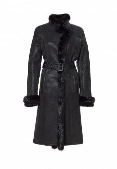 Дубленка, Grafinia, цвет: черный. Артикул: MP002XW1GIAQ. Женская одежда / Верхняя одежда / Шубы и дубленки