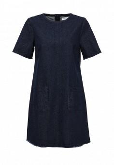 Платье джинсовое, Native Youth, цвет: синий. Артикул: NA022EWIYQ65. Женская одежда / Платья и сарафаны / Летние платья